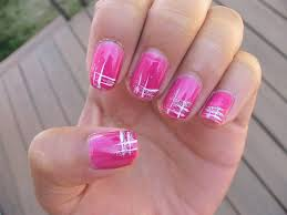 pink long nail art design vintage diva nails with roses and pink
