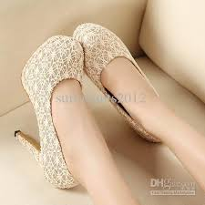wedding shoes for girl 2015 new women ivory high heeled shoes bridal lace wedding shoes