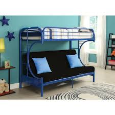 Futon Bunk Bed With Mattress Acme Furniture Eclipse Navy Twin Over Full Metal Bunk Bed 02091w