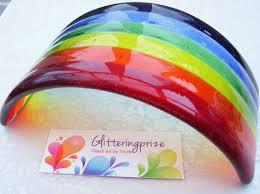 rainbow bridge fused glass ornament by glitteringprizeglass home