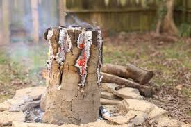 Starting A Fire Pit - how to make a swedish flame man made diy crafts for men