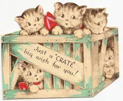 697 best cats on greeting cards images on pinterest vintage cat