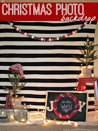 easy christmas photo backdrop our fifth house