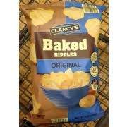 ripples chips clancy s original bake ripples potato chips calories nutrition