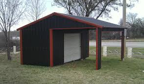 american steel carport a frame vertical partial enclosed with