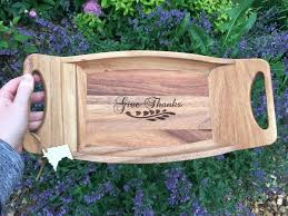 engraved serving tray 22 best laser engraved serving trays platters images on