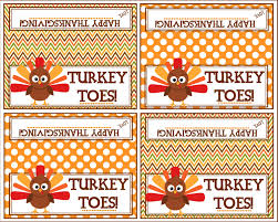 turkey toes bag topper happy thanksgiving printable