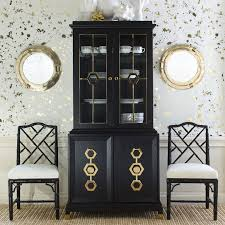 Turner And Hutch Turner White And Nickel Cabinet Modern Furniture Jonathan Adler