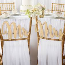 wedding favors unlimited gold promises classic mr and mrs chair backers