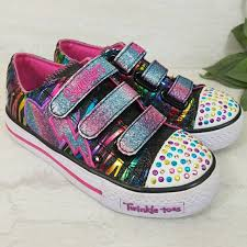 rainbow light up shoes skechers other sketchers twinkle toes rainbow lightup sneakers