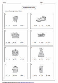estimating weight visuals pinterest worksheets