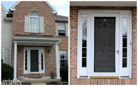 amazing red front door as surprising door design for modern home