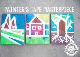 masterpieces with painter u0027s tape easy painting for preschoolers