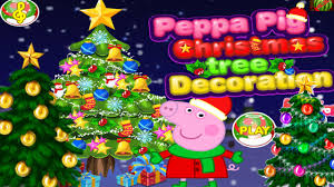 peppa pig christmas tree decoration game peppa pig game for kids