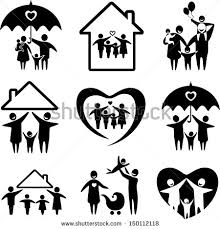 family silhouette stock images royalty free images vectors