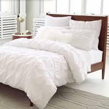 Dkny Duvet Cover White Organic Cotton Pintuck Duvet Cover Shams White Duvet