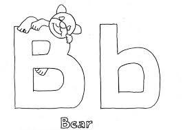 alphabet coloring pages bear alphabet coloring pages of