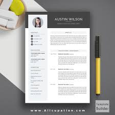Best Resume Builder For Mac 2015 by Creative Resume Template Modern Cv Template Word Cover Letter