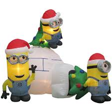 minions christmas inflatables outdoor christmas decorations