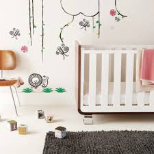 baby nursery modern baby bedroom decoration with brown and white