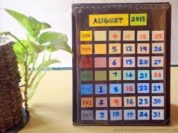Diy Desk Calendar by Diy Paint Chip Desk Calendar M De By Lakshmi
