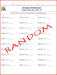 division math problems free math work sheets division