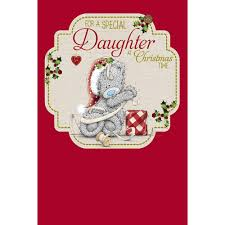 special daughter christmas card me to you tatty teddy bear