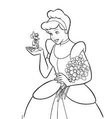 20 free printable princess cinderella coloring pages