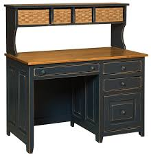 Pine Desk With Hutch Pine Amish Desk With Baskets