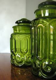 green kitchen canisters colored glass kitchen canisters foter
