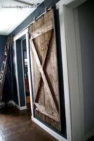 How To Install Barn Doors by We Finally Got Our Hanging Barn Door Up Grandmas House Diy