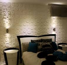 Black Feature Wall In Bedroom Wall Feature 3d Circle Relief Art Wall Panel In Contemporary