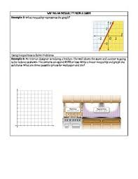 graphing linear inequalities guided notes by amanda u0027s math corner