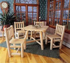 cedar dining room table rustic cabin dining of natural cedar logs