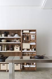 walnut storage cabinet for kitchen interior organization bulthaup