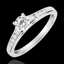 18 carat diamond ring altesse solitaire engagement ring 0 4 carat diamond white gold