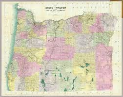State Map Of Oregon by State Of Oregon David Rumsey Historical Map Collection