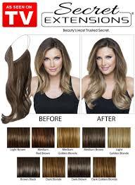 hair extensions as seen on tv as seen on tv secret extensions medium brown