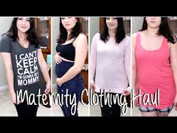 second maternity clothes try on maternity clothing haul gathering basics for the second