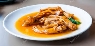 cuisine trotter stewed duck trotter cuisine stock photo arhendrix