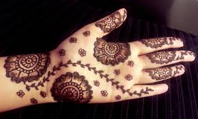 arabic floral henna simple pretty mehendi design with flowers