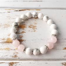 rose crystal bracelet images Help to release anger genuine white howlite rose quartz jpg