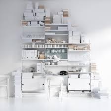leiter regal rosa regalsystem von string im wohndesign shop