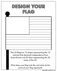 American Flag To Color Free 4th Of July Printables Design A Flag U0026 More