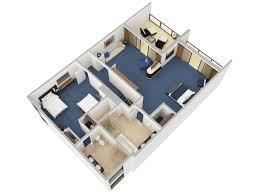 Hotel Suite Floor Plans by 3d Floor Plans Caribe Hilton San Juan