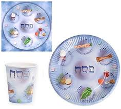 passover paper plates set of disposable paper plates paper cups and