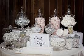 wedding candy buffet table silver grey and white candy tables