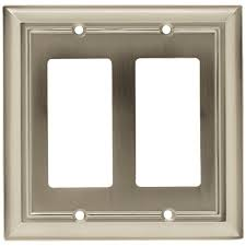 Travertine Switch Plates by Hampton Bay 1 Duplex Outlet Plate Travertine Swp101 01 The Home