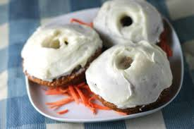 forking up baked carrot cake donuts easterweek2017