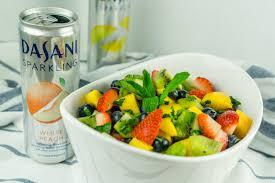 fruit salad with honey lime dressing babaganosh